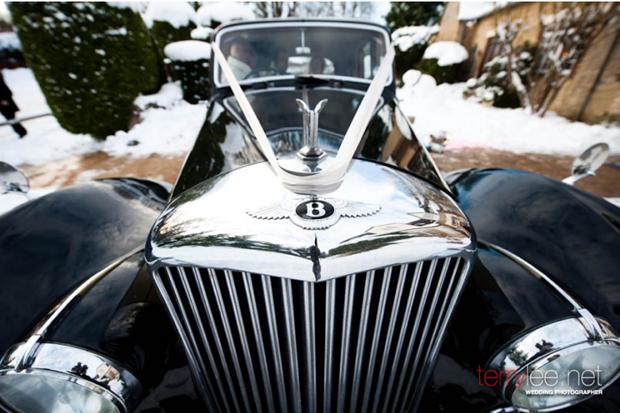 bentley wedding getaway vehicle - photo by terry lee photography