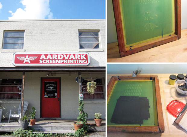 aardvark screenprinting + custom printed wedding invitations