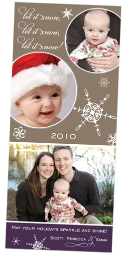Shine photo holiday card
