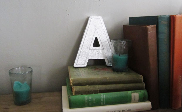 repurposed signage, initials, letters, wedding decor