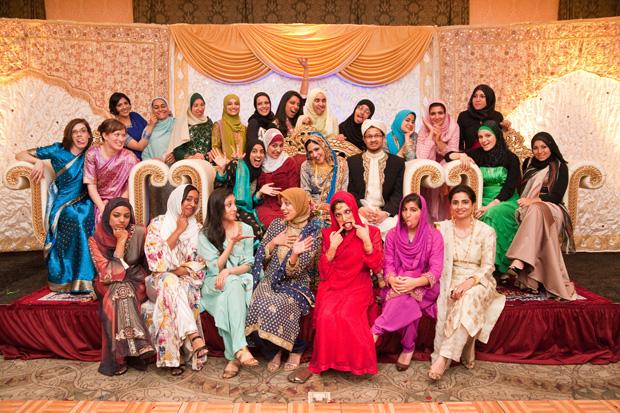 Yasmin's bridesmaids and friends