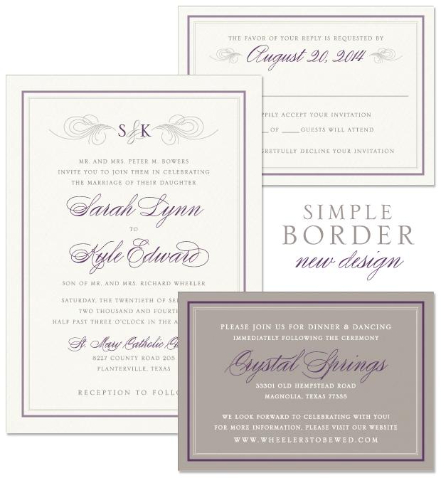 New Design Simple Border American Wedding Wisdom – Simple Classic Wedding Invitations
