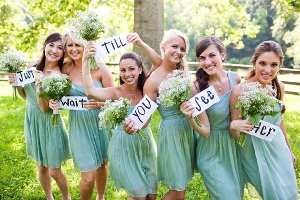 outdoor nc wedding - aqua bridesmaid dresses