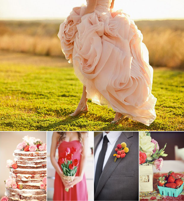 strawberry wedding inspiration