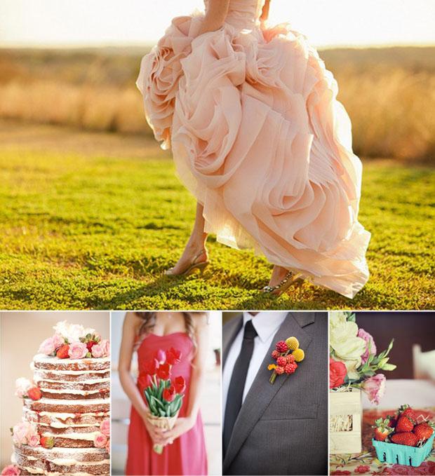 strawberry wedding inspiration