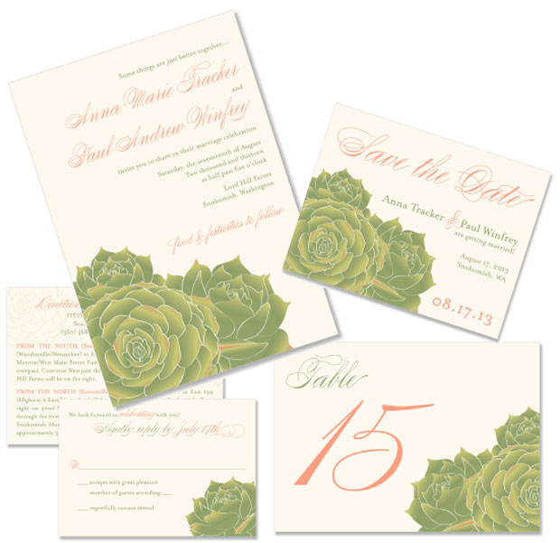 Succulent Wedding Stationery