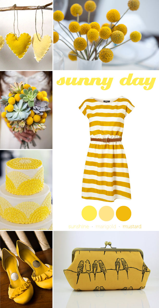 sunny day yellow color inspiration board