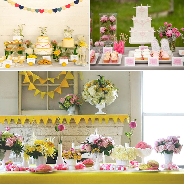 bright and cheery dessert tables