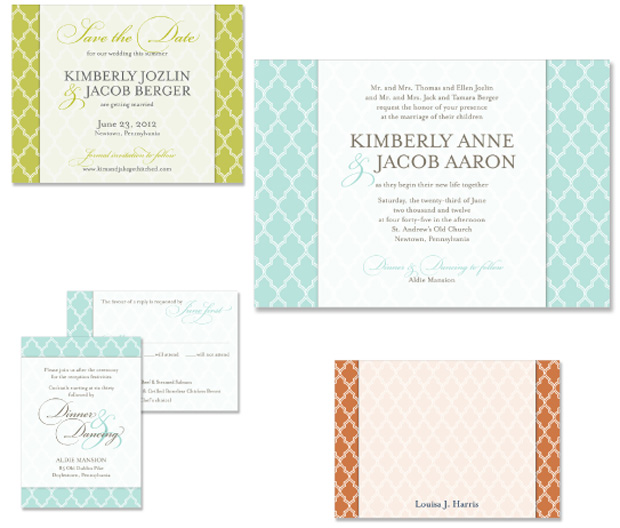 Uptown Chic Wedding Invitation Save the Date Note Card