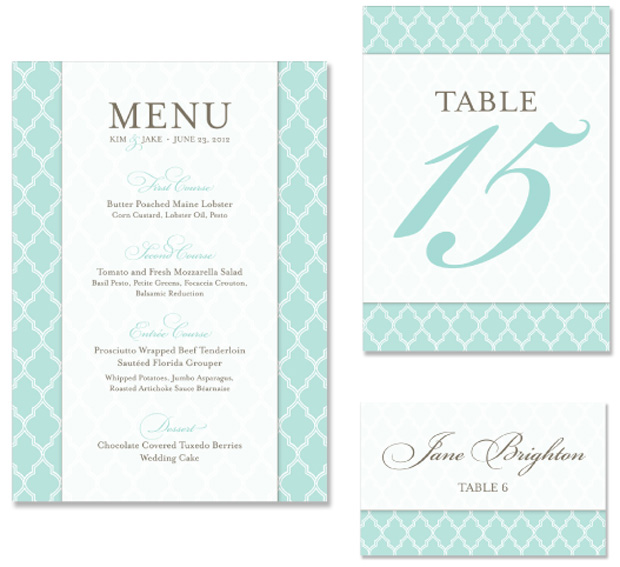 Uptown Chic Wedding Day Stationery