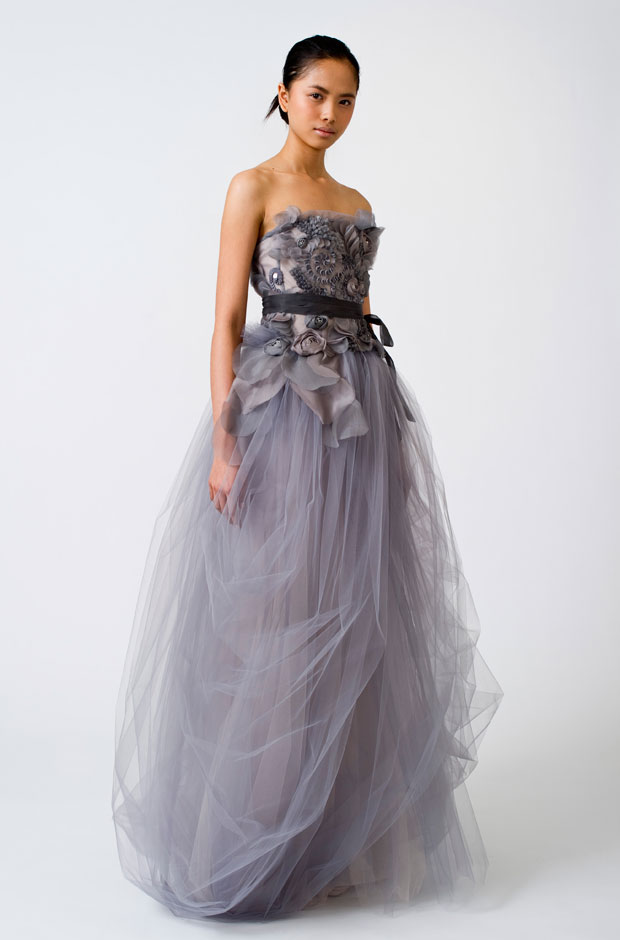 Vera Wang gray wedding dress