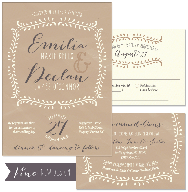 Vine Wedding Invitation