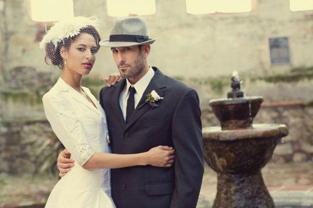groom hat trends - retro style