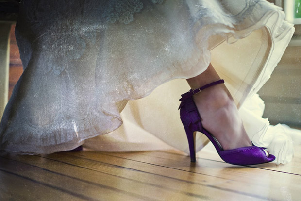 violet wedding shoes