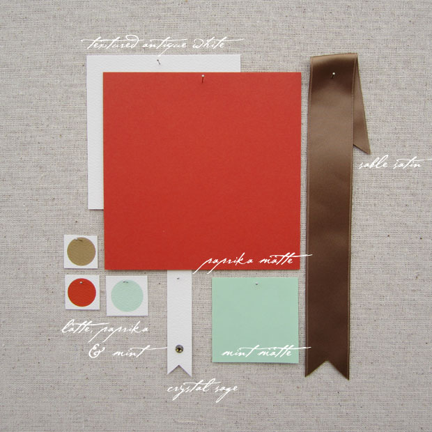 wedding color inspiration brown, mint, orange, red, paprika
