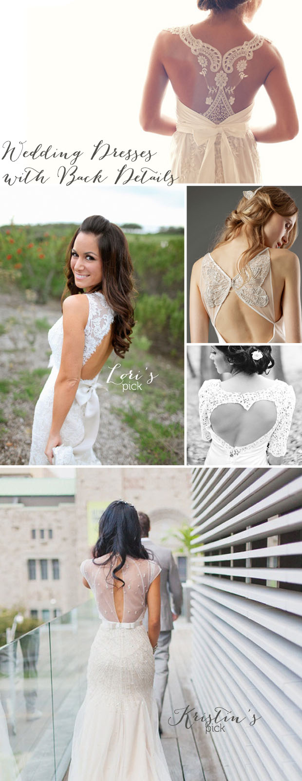 back cut outs, low backs, heart cut out, peepholes, back details on wedding dresses