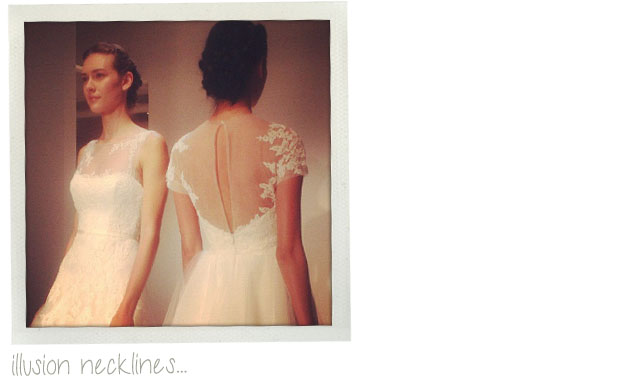 wedding dress trends 2013 - illusion necklines and backs