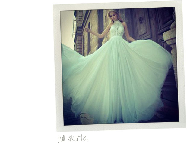 wedding dress trends 2013 - full skirts