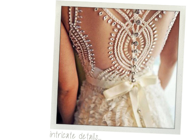 wedding dress trends for 2013 - intricate details