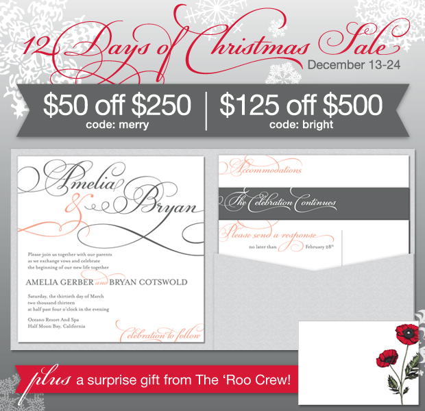 Wedding Invitation Sale December 2013
