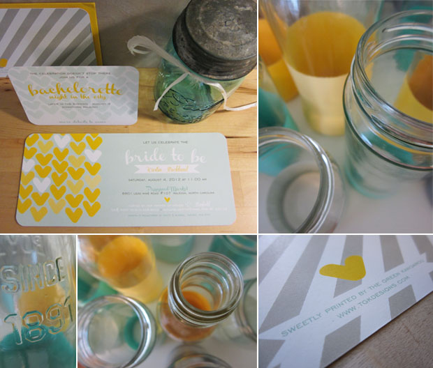 wedding decor and shower invitations