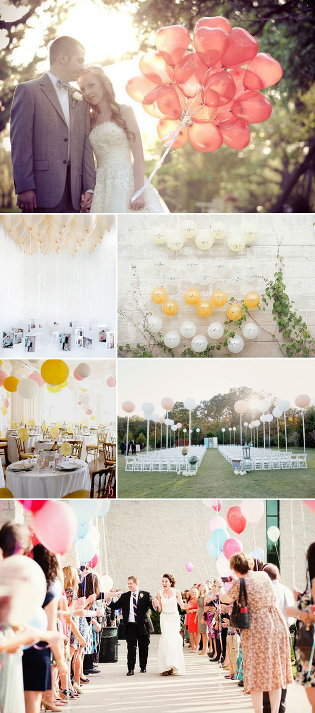 wedding ideas and inspiration using balloons