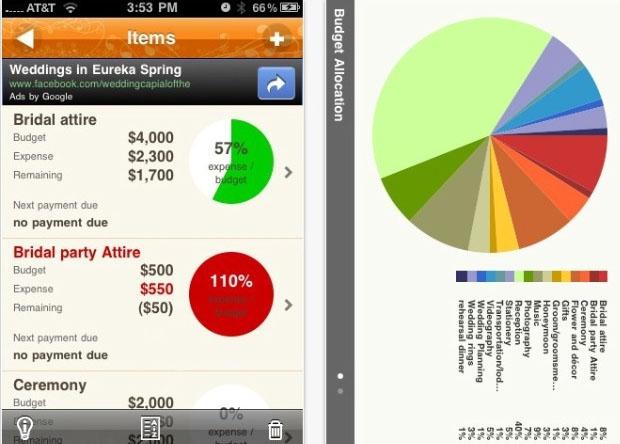 Wedding Apps; Budget
