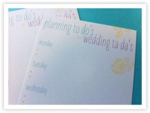 downloadable weekly wedding planning checklist