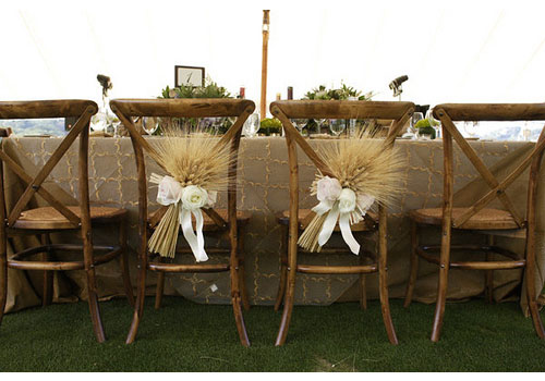 Wheat Chair Decorations