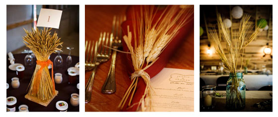 Wheat Table Decorations