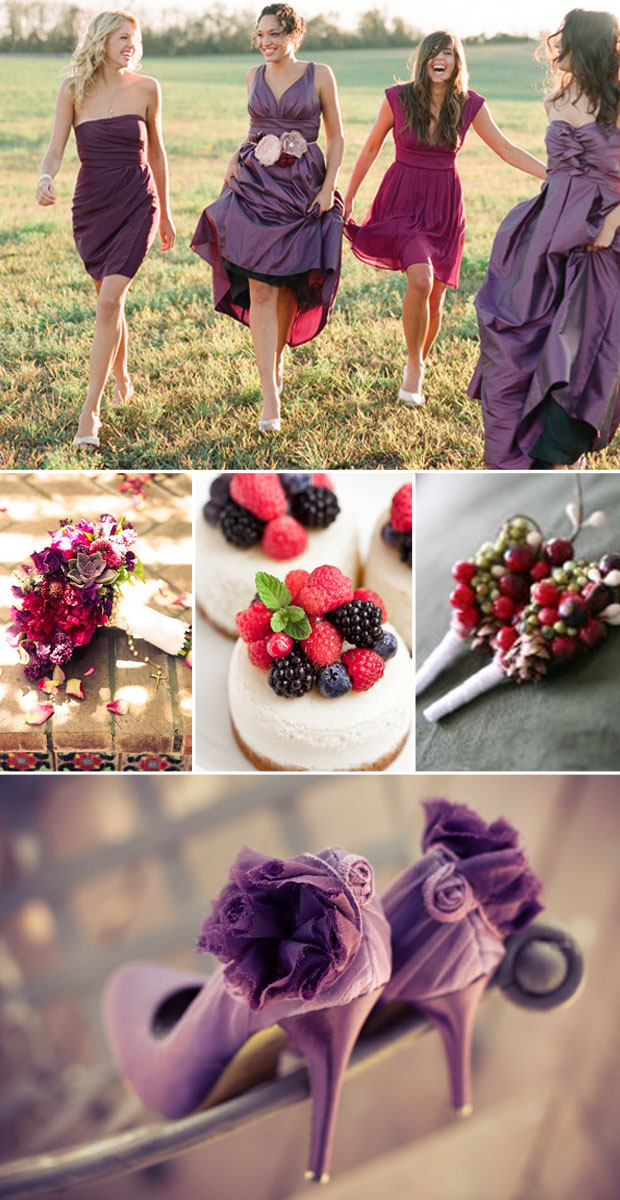 wedding colors: berry, plum, sangria