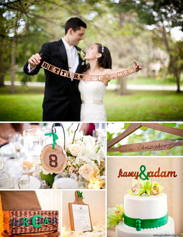 Just some of Kasey + Adam's DIY reception decor.