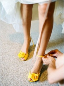 Colorful Heels All Around - American Wedding Wisdom