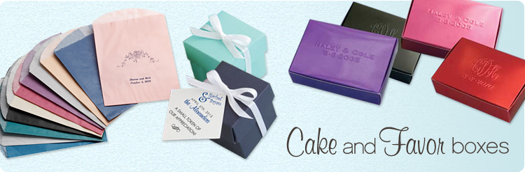 cake & favor boxes
