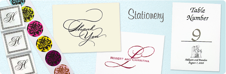 Order your wedding stationery from The American Wedding for all your