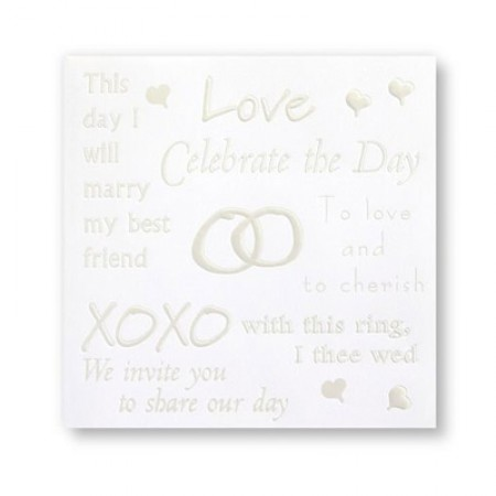 Words of Love Wedding Invitations SAMPLE