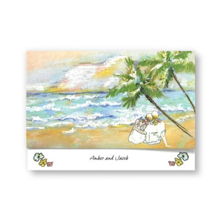 Sand in Your Toes Wedding Invitations SAMPLE