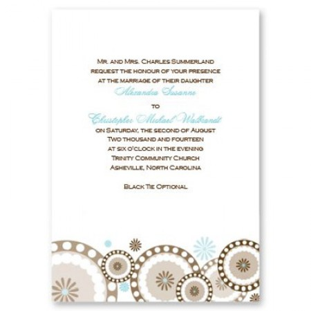 Circles and Flowers Wedding Invitations SAMPLE