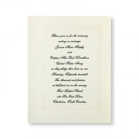Small Social Graces Wedding Invitations SAMPLE