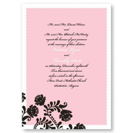 Primrose Wedding Invitations SAMPLE
