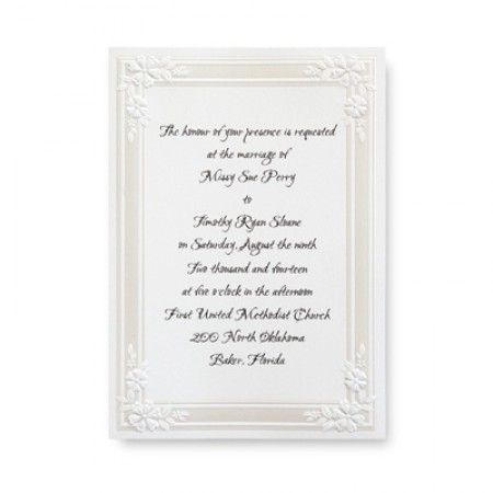 Classic Floral Border Wedding Invitations SAMPLE