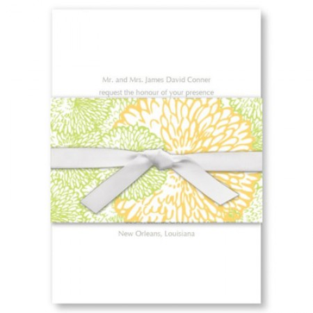Flourishing Blooms Wedding Invitations SAMPLE