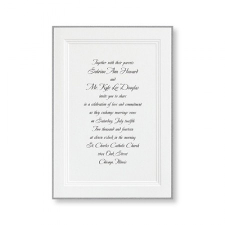 A Classic Wedding Invitations SAMPLE