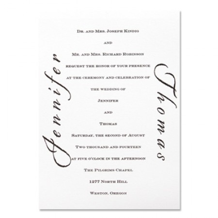 Calligraphy Invitation Wedding Invitations SAMPLE