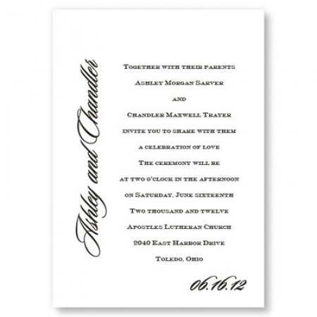 Love By Design Wedding Invitations SAMPLE