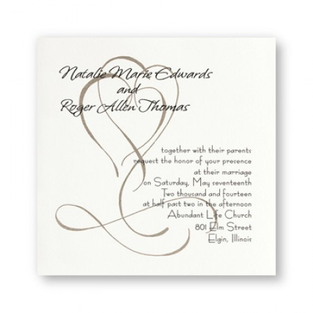Fanciful Hearts Wedding Invitations SAMPLE