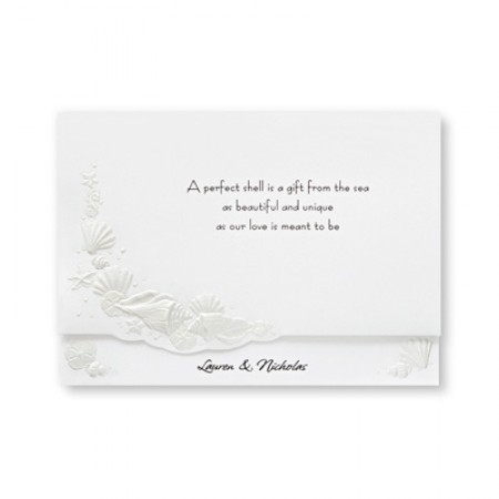 Romantic Shells Wedding Invitations SAMPLE