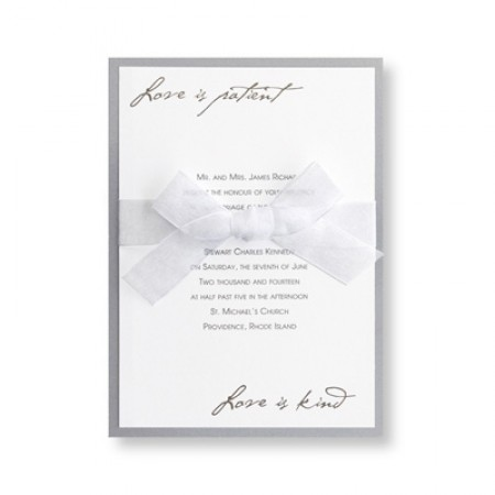 Love is Patient Wedding Invitations SAMPLE