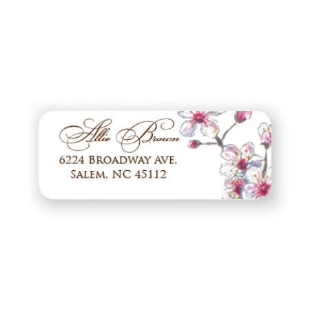 Spring Cherry Address Labels