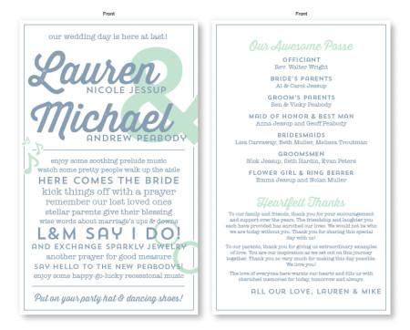 Poster Wedding Program